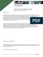 """Ornelas, Jaime (2009a), """"Globalización neoliberal economía política y cultura,"""""""
