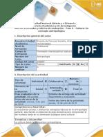 Guía de actividades y rúbrica de evaluación - Fase 3 - Cultura un concepto antropológico