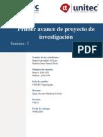 Tarea3.2 Primer Avance Proyecto De Investigacion