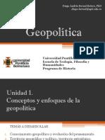 Unidad 1 Conceptos y Enfoques de la Geopolítica