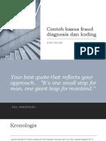 Contoh kasus fraud diagnosis