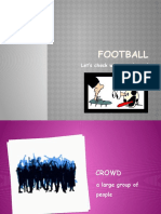 Football Vocabulary - PowerPoint with game (3 of 3)