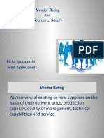 Vendor Rating and Buyer Vendor Relations