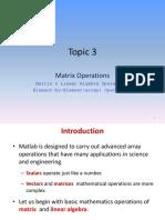 Matlab Matrix Operation