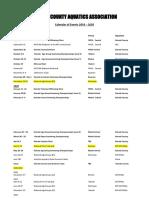 2019 - 2022 Nairobi Swimming Calendar Amended 2019 Sep 3