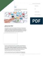 TICs_ Concepto, Ventajas, Desventajas y Ejemplos