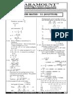 MATHS MAINS 51(Solution)