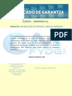CERTIFICADO DE GARANTÍA CYM