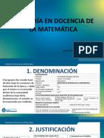 MAESTRÍA EN DOCENCIA DE LA MATEMATICA