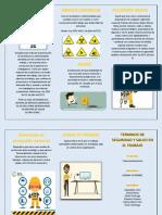 Seguridad y Salud en el Trabajo folleto