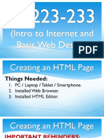 IT 223-233 (Intro to Internet and Basic Web Design) 2 of 2