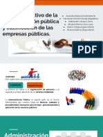 Marco Normativo de La Administración Pública y Clasificación de Las Empresas Públicas.