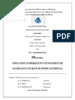 Simulation numerique d'un ecoulement de fluide dans une roue de pompe centrifuge_2