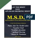 Psikotes MSDT Lengkap Dengan Skoring MSDT