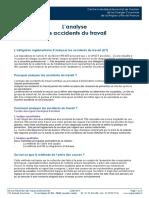 L'analyse des accidents de travail