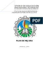 Plan de Mejora  2019