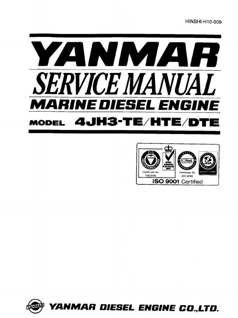 Yanmar 4jh3 Te Starter Wiring Diagram Free Download 1500 Engine Overhaul Service Manual