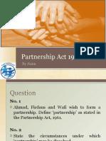 Partnership Act 1961