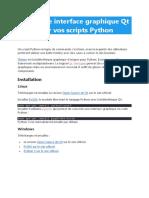 Créez une interface graphique Qt pour vos scripts Python