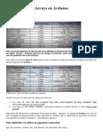 Tipos de Datos Arrays en Arduino.