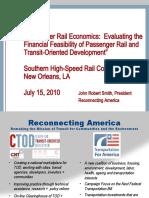 Passenger Rail Economics