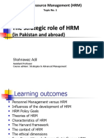 Chapter 01 - The Strategic Role of HRM (in Pak and Abroad)