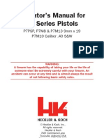 Hecklor Koch user manual P7 Pistol