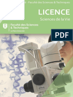 Licence Sciences de la Vie`