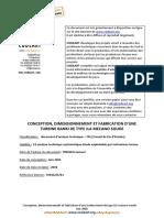 Conception,dimensionnement et fabrication de turbines Banki