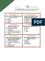 AR Activity Sheet