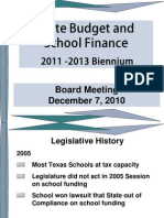 State Budget and School Finance 2011-12