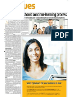 Good Leaders Continue Learning Process