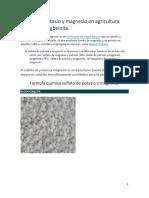 Sulfato de potasio y magnesio en agricultura orgánica
