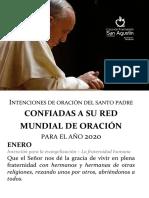 Intenciones de oración del santo padre 2020