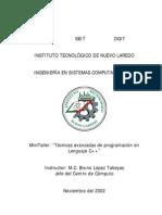 Tecnicas Avanzadas de Programacion en Lenguaje c++ (Manual) Muestras Gratis Para Que Pruebes en Tu Casa