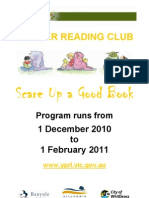 Scare Up a Good Book Events Flyer 2010-2011