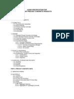 Precast Concrete Guide Specification