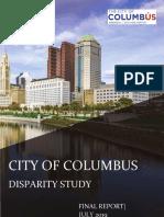 City of Columbus Disparity Study Final Report 7-26-19