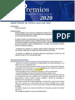 PREMIO MARÍA ORÁN 2020
