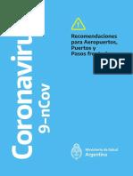 Recomendaciones Coronavirus Aeropuertos Puertos Pasos fronterizos