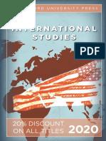 Stanford University Press   International Studies 2020 Catalog