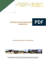 Protocolo de Gestión de Incidentes Ambientales, ID-SGA-P-01