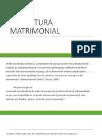 LA RUPTURA MATRIMONIAL FAMILIA