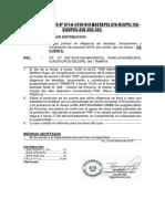 NOTA INFORMATIVA Nº 71-A, APOYO DILIGENCIA DE LANZAMIENTO PARCONA 12MAR19