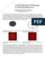 Surface Plasmon Hybridization of Whispering Gallery Mode Microdisk Laser - Abstract