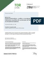 desenvolvimentismo, conflito e conciliação de interessses ba política de construção de hidrelétricas na amazonia brasileira