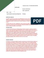 ejemplo informe psicodiagnostico