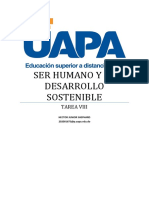 SER HUMANO Y SU DESARROLLO SOSTENIBLE TAREA VIII
