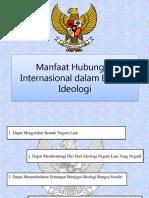 Manfaat Hubungan Internasional dalam Bidang Ideologi
