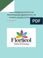 Para TENER EN CUENTA EN PRESERVACIÓN PROFESIONAL DE FLORES